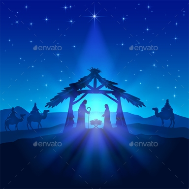 Christmas star and birth of Jesus 1